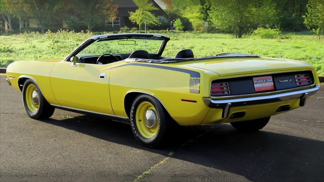 Lemon Twist 1970 Plymouth Hemi Cuda Convertible