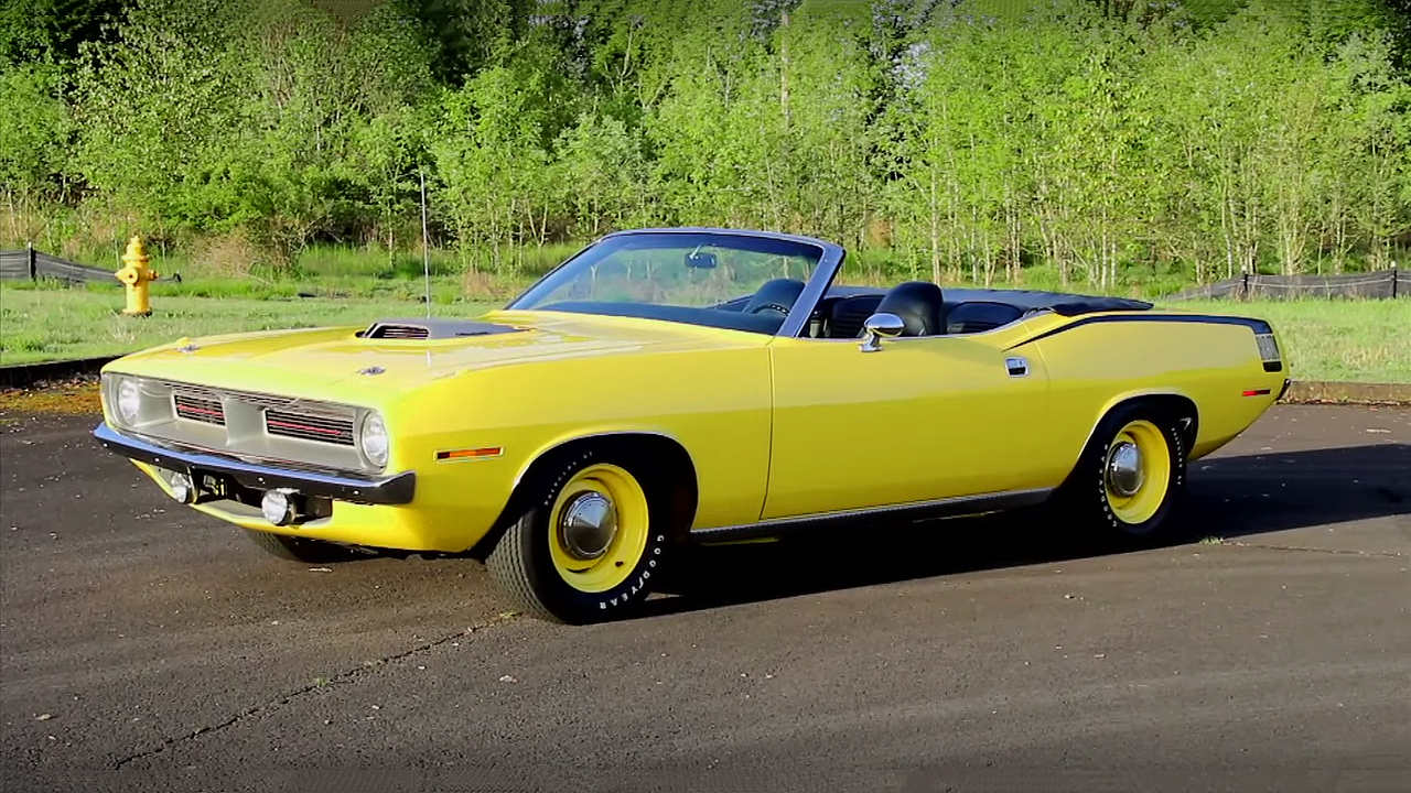 426 Hemi Powered Lemon Twist 1970 Plymouth Cuda Convertible
