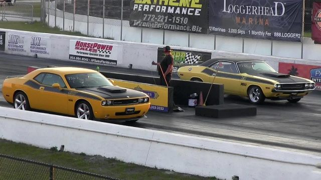2008 Dodge Challenger SRT8 vs 1970 Dodge Challenger TA 340 Six Pack