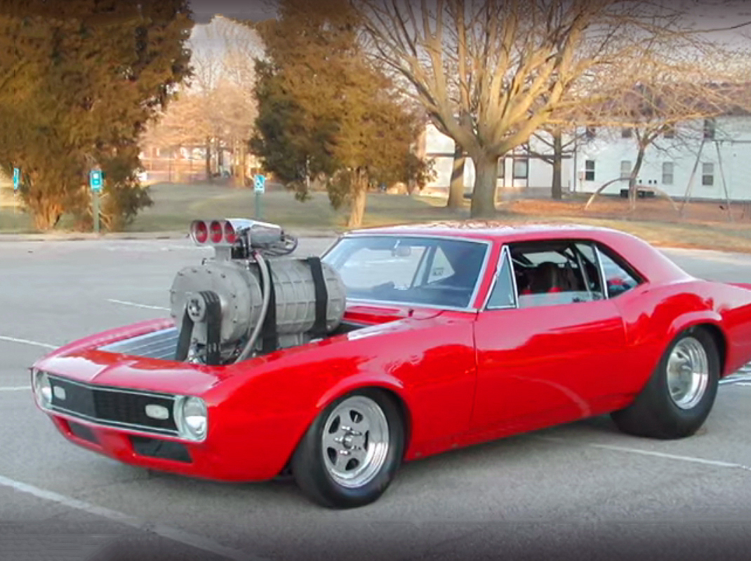 Watch The Original Footage Of This '68 Camaro With A Giant Blower