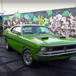 Watch Tony Angelo doing some crazy donuts with his 1971 Dodge Demon 340