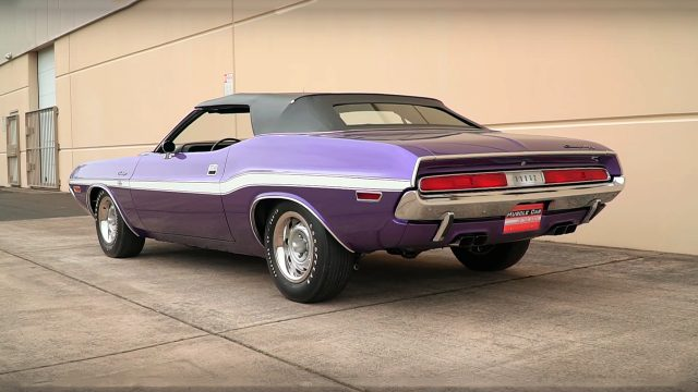 Plum Crazy 1970 Dodge Challenger R/T 426 Hemi Convertible Back