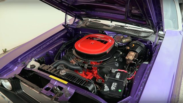 Plum Crazy 1970 Dodge Challenger R/T 426 Hemi Convertible Engine