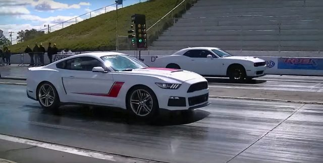 Tight Battle Between Hellcat Challenger Vs Stage 3 Roush