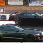 Watch this Drag Race between Stock Hellcat Challenger vs Boosted Mustang GT