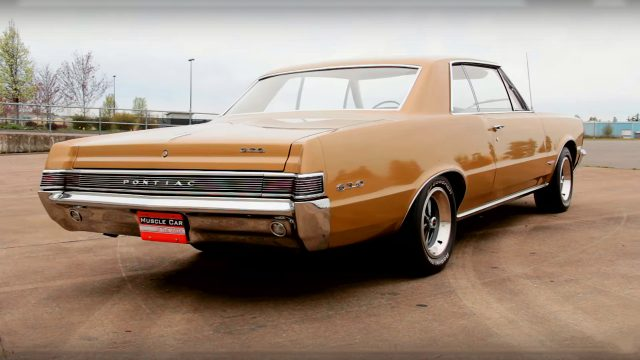 Check this Beautiful Tiger Gold 1965 Pontiac GTO Rear