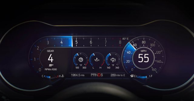 The New 2018 Ford Mustang GT in Details - Digital Cluster