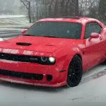 Widebody Hellcat Challenger Snow Donuts – Happy New Year 2018