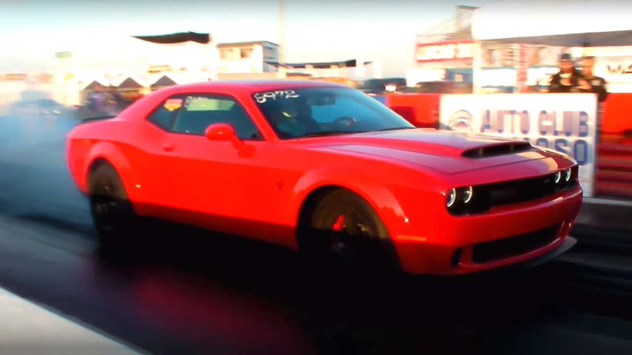 Dodge Demon Brakes the 9-Seconds 1/4 Mile Time
