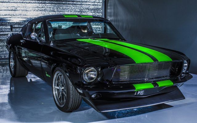 All-Electric Zombie 222 1968 Ford Mustang Fastback