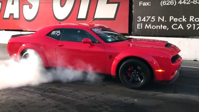 Dodge Demon at the Drag Strip
