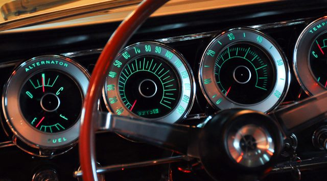1966 Dodge Charger 426 Hemi Fastback Gauges