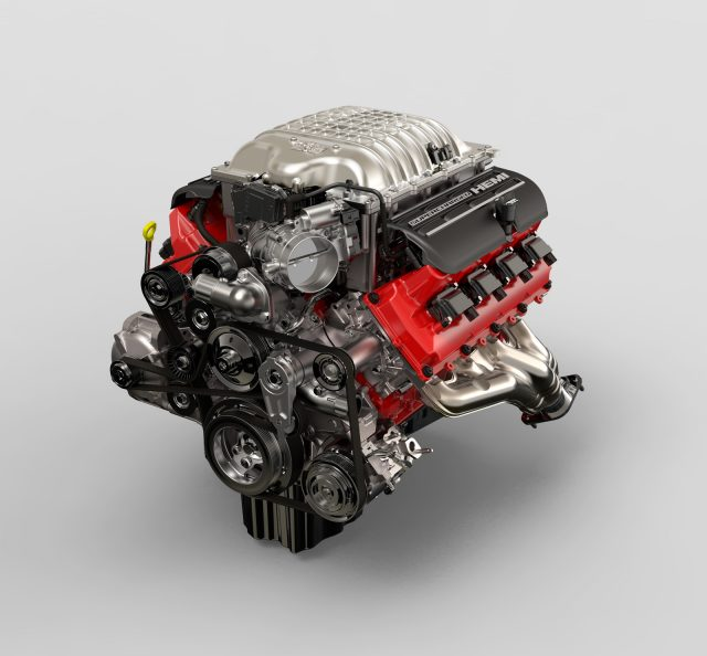 Supercharged Chryslers 378 cubic-inch, 6.2 liter small-block SRT Hemi Demon V8 engine