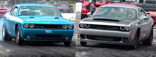 Demon Challenger vs Stock Eliminator Drag Pak Challenger