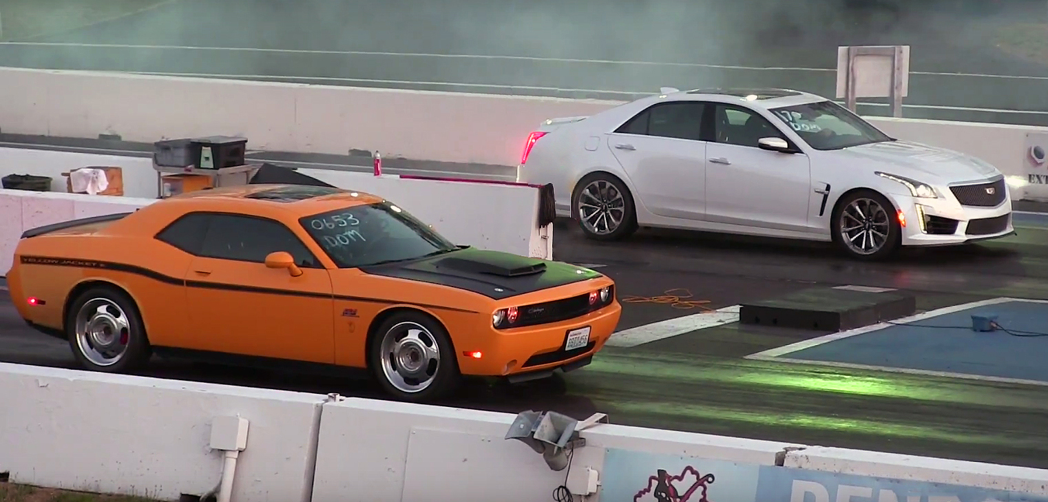 Yellow Jacket SRT8 Challenger vs 2017 Cadillac CTS-V – Enjoy the Race!
