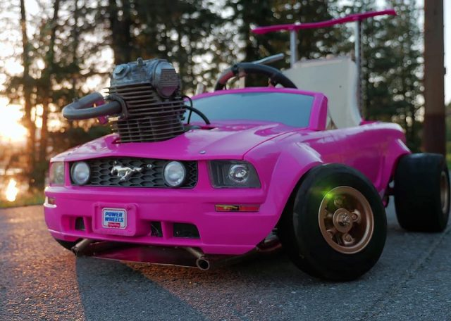 Pink Barbie Ford Mustang