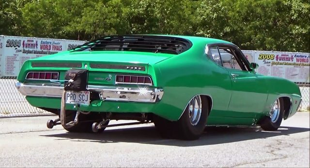 Pro Street 1970 Ford Torino 547 Super Cobra Jet back