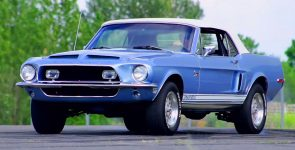 Gorgeous & Powerful Britney Blue 1968 Shelby GT500KR Convertible