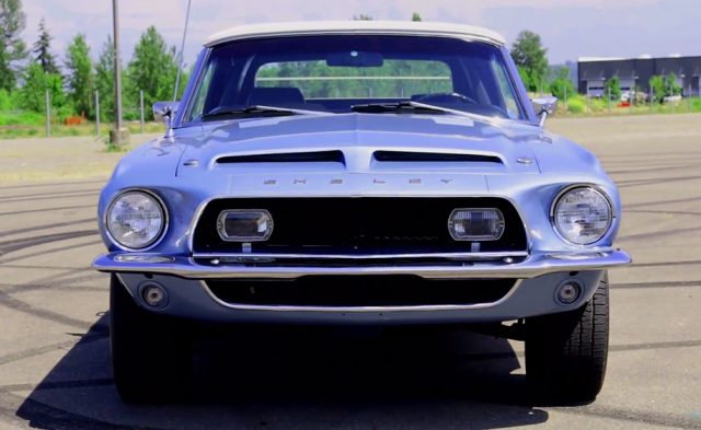 Britney Blue 1968 Shelby GT500KR Convertible