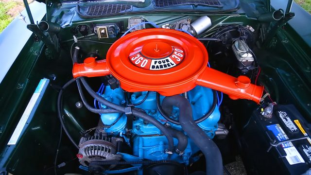 1973 Plymouth Cuda 360 engine