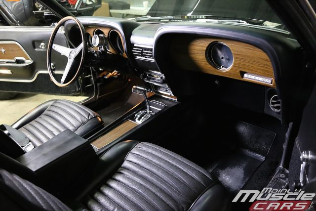 Raven Black 1970 Mach One Mustang Interior