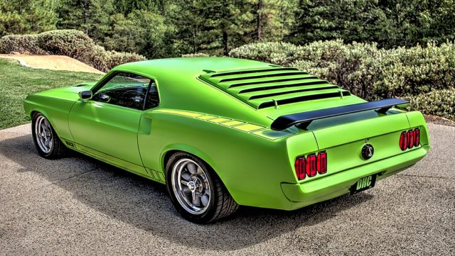 Green Stealth 1969 Ford Mustang Mach 1
