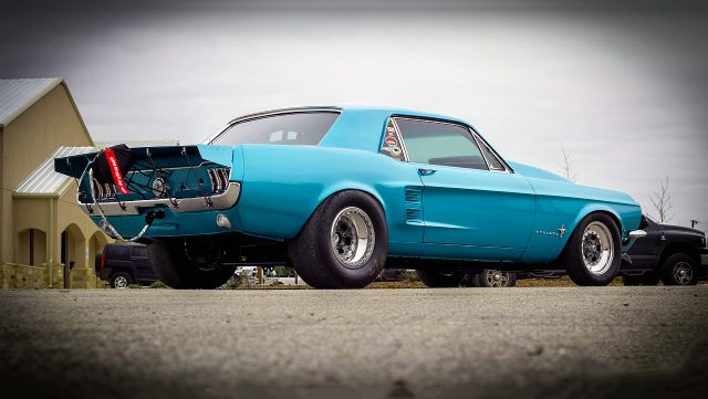 Baby Blue 1967 Ford Mustang Street Racer