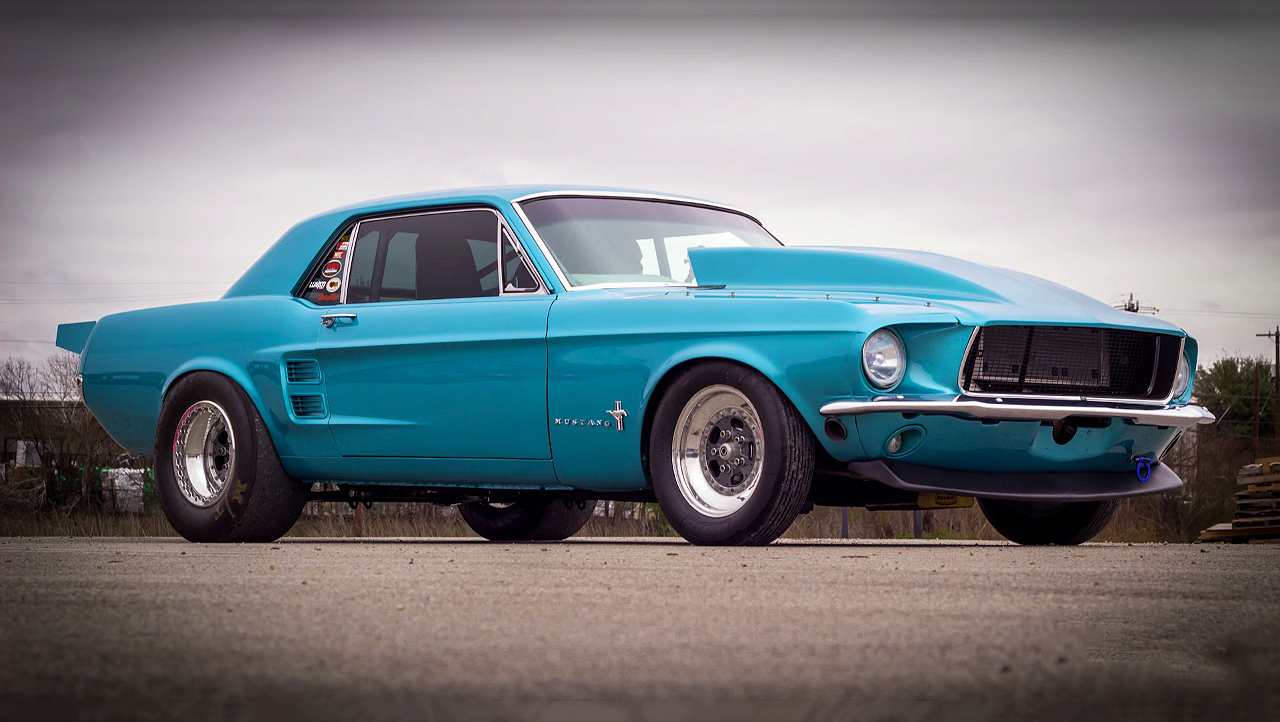 Check this bad boy procharged 1967 ford mustang