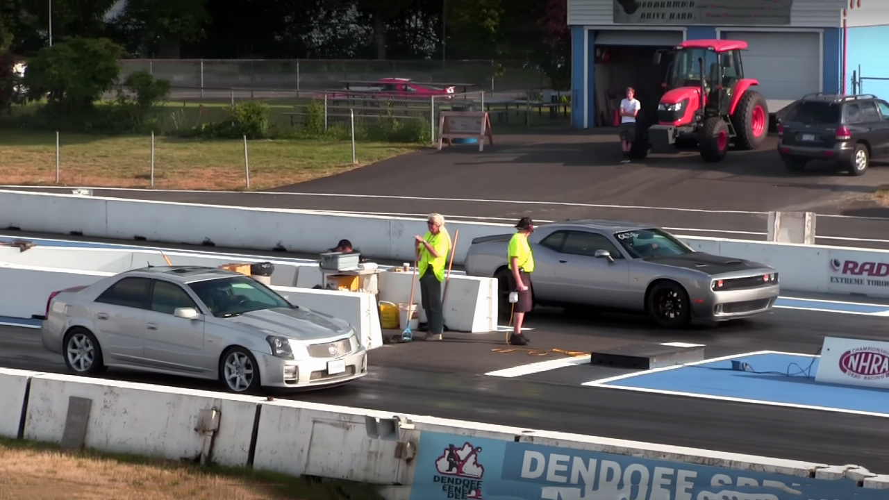 Stock Challenger Hellcat VS Modded Cadillac CTS-V