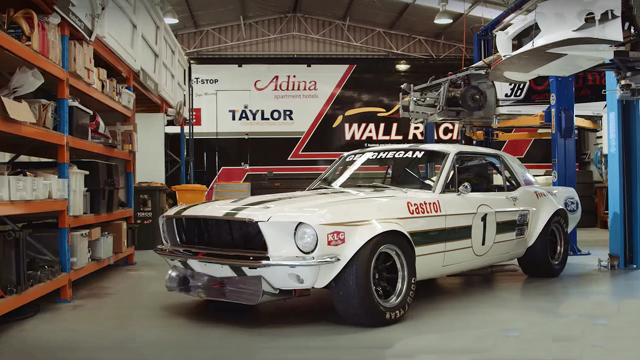 Pete geoghans 1967 ford mustang race car