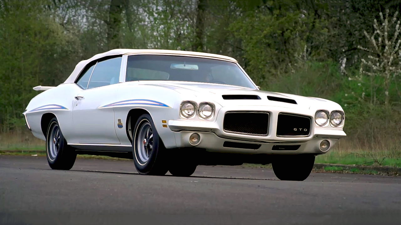 Super Cool and Rare 1971 Pontiac GTO 455 HO The Judge Convertible