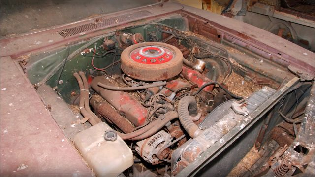 Super Cool 1969 Dodge Charger 500 Barn Find Engine