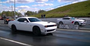 Tight Battle Between Hellcat Challenger vs Stage 3 Roush Mustang