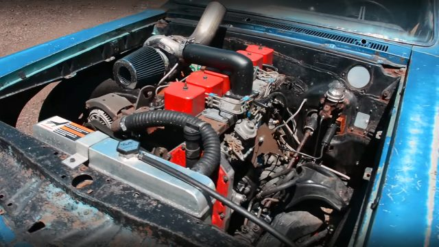 Turbocharged Cummins 1966 Pontiac Tempest Engine
