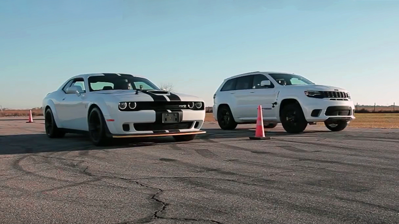 Trackhawk VS Hellcat - Ultimate Battle for Dominance