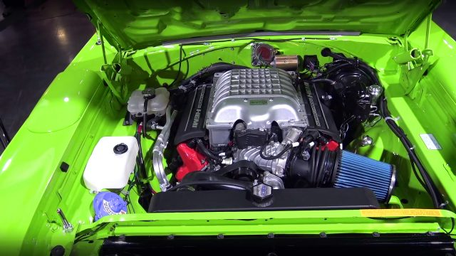 Hellcat Powered 1970 Plymouth Superbird by Graveyard Carz engine