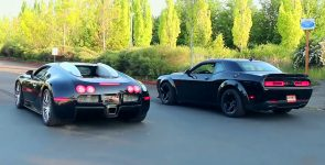 Bugatti Veyron VS Dodge Demon - Battle for Throne!