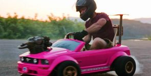 Find out why would you own this Pink Barbie Ford Mustang rather than the real one?