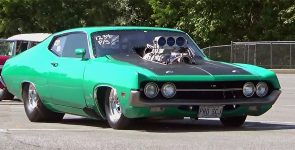 Striking Pro Street 1970 Ford Torino 547 Super Cobra Jet