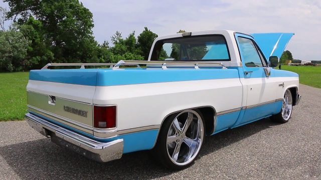 1980 Chevrolet C10 Scottsdale Pickup Truck back