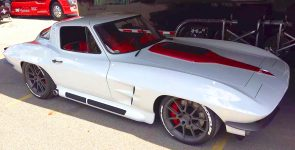 Perfect Arctic White 1964 Chevrolet Corvette by Mike Goldman Customs