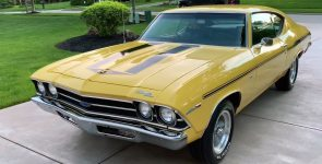 Immaculate Butternut Yellow 1969 Yenko Chevelle Super Car