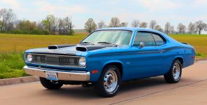 Gorgeous EB5 Blue 1974 Plymouth Duster Restomod