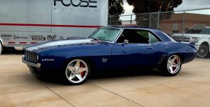 Deep Impact Blue 1969 Chevy Camaro SS Restomod by Foose
