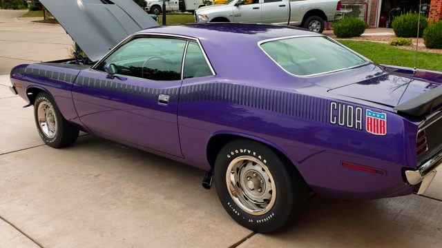 1970 plymouth barracuda aar rear