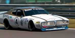 Super Loud 1974 Dodge Charger Olympia NASCAR Race Car at the Track!