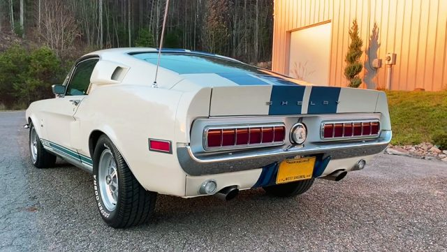 1968 Shelby GT350 Hertz Rent-A-Racer in Wimbledon White Back