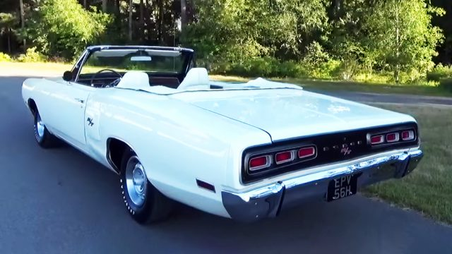 1970 Dodge Coronet RT Convertible Back