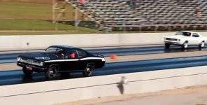 1969 Chevrolet COPO Camaro ZL1 vs 1971 Plymouth Duster 340 Drag Race!