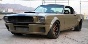 Stealth Looking and Aggressive 1966 Ford Mustang Fastback Pro-Touring